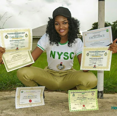 Meet Beautiful Corper Who Made Commendable Strides