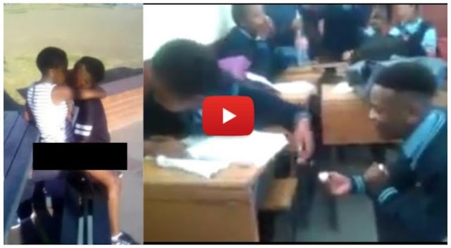 School kids caught in act on a school trip after proposing in class - Video