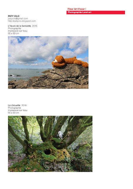 photos avec textile, art avec peluches, land art