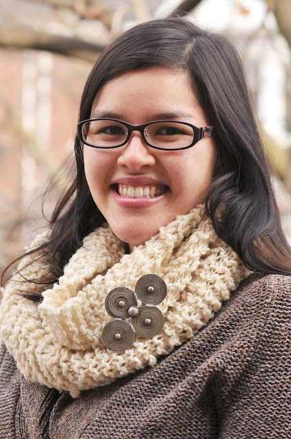 rustic knit infinity scarf free pattern