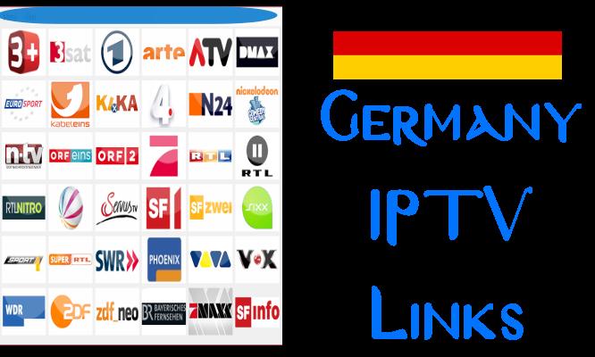 Germany IPTV Links working playlist streams