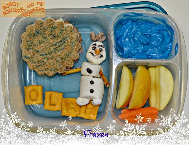 Sand Olaf Building Frozen Snowman