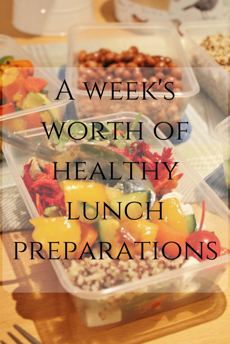 One week of healthy lunch recipes