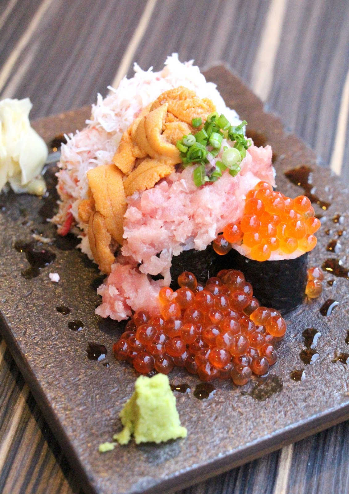 Singapore japan food blog dairy and cream izy dining bar over the top sushi piled with all sort of luxurious ingredients can be found in several izakayas in tokyo and izy japanese dining is probably the first forumfinder Image collections