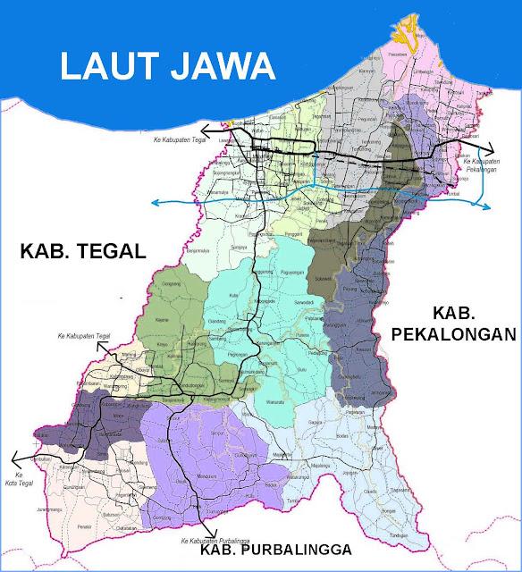 Gambar Peta Kecamatan Kabupaten Pemalang
