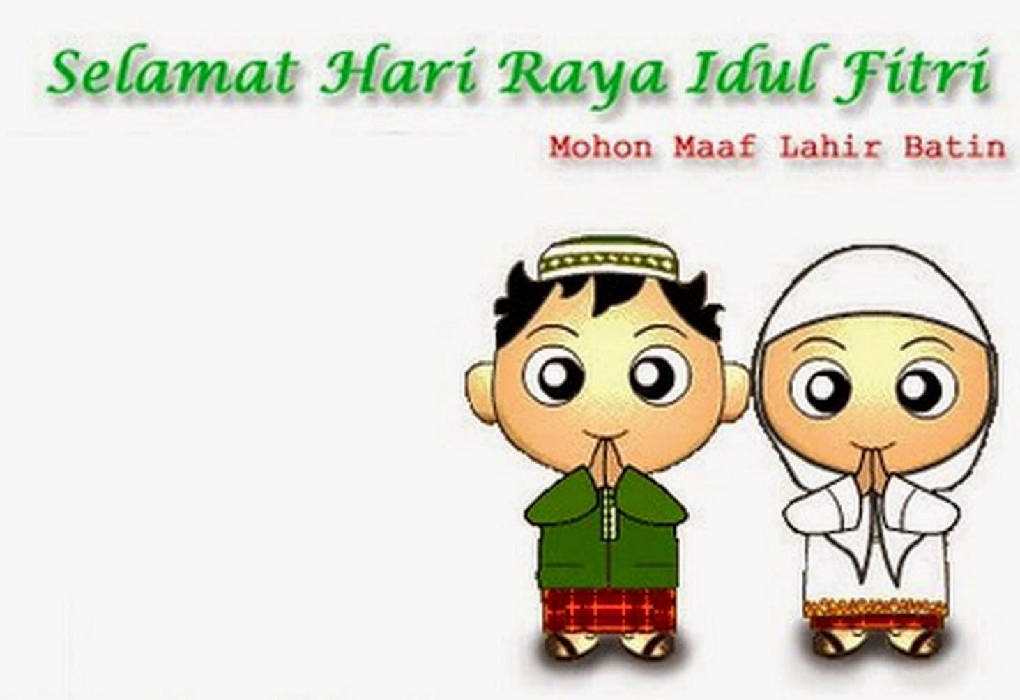 Gambar Kartun Muslimah Hari Raya Top Gambar