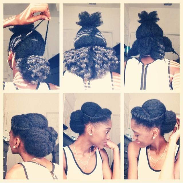 Natural Hair Flat Twist Crown