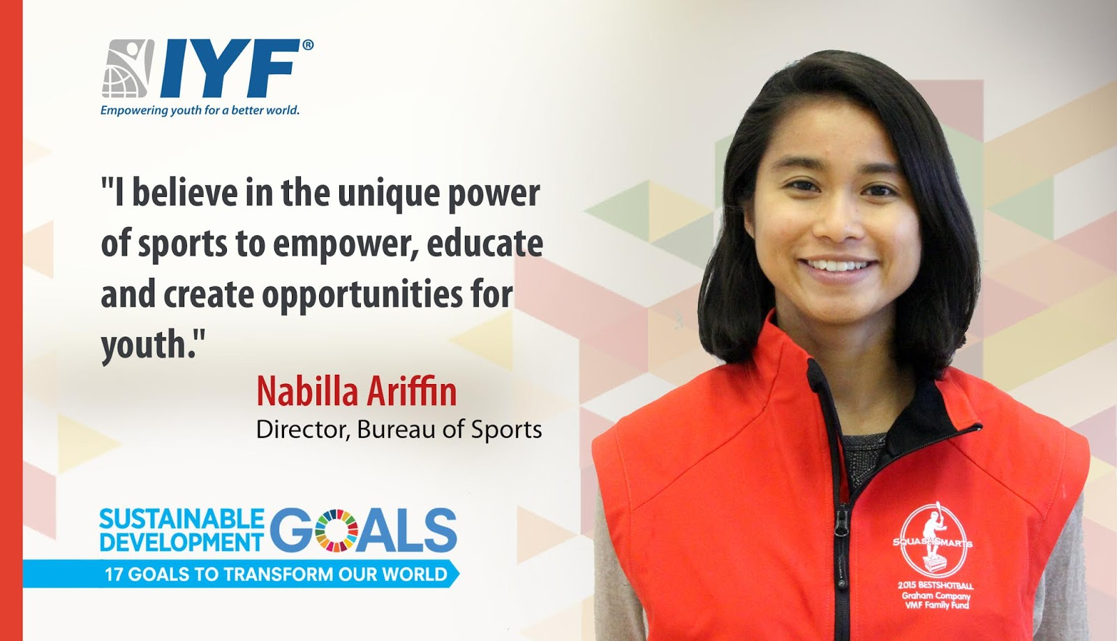 Nabilla Ariffin, IYF Director Bureau of Sports