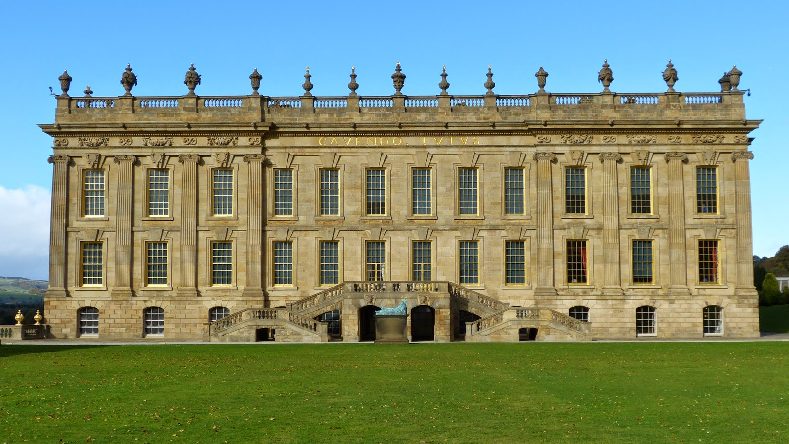 Chatsworth from the gardens