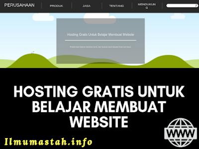 Hosting Gratis Untuk Belajar Membuat Website