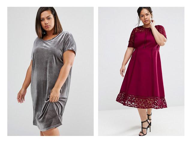 Свободное платье и платье с завышенной талией на полной девушке