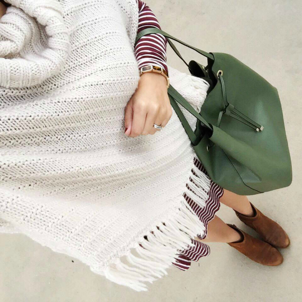 fringe poncho, swing dress