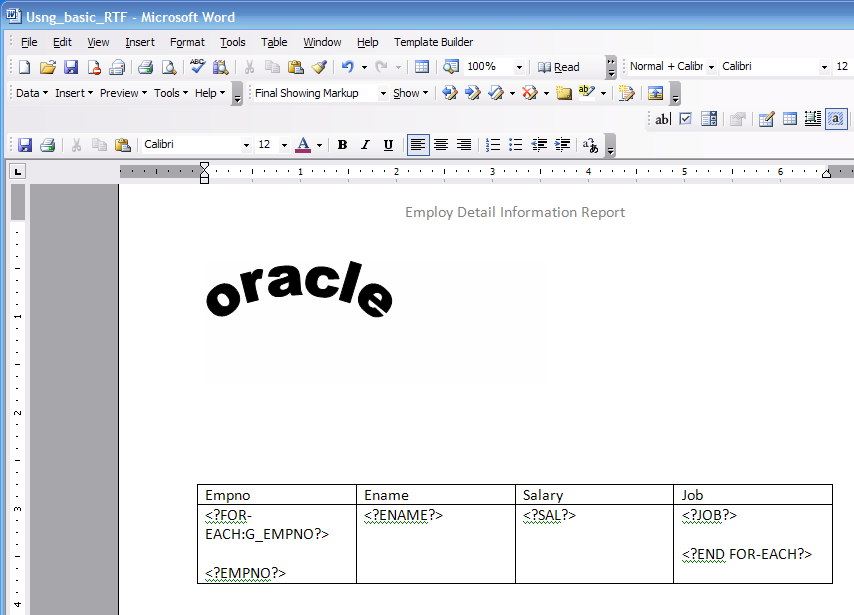 how to create rtf template for xml publisher - oracle concepts for you inserting a static logo in xml