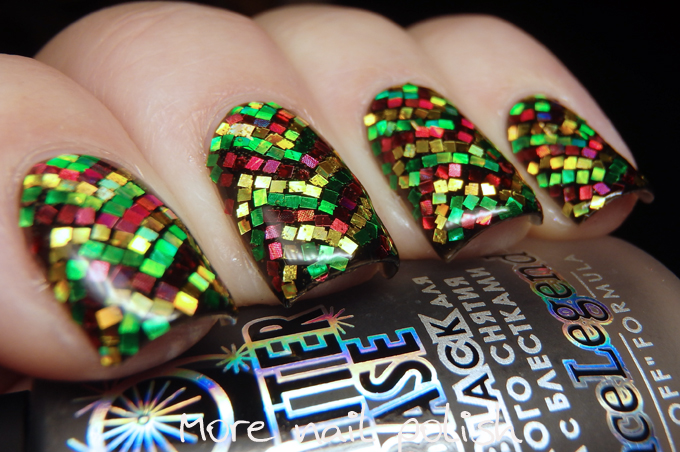 31dc2016 Glitter Red Green Yellow Zigzags More Nail Polish