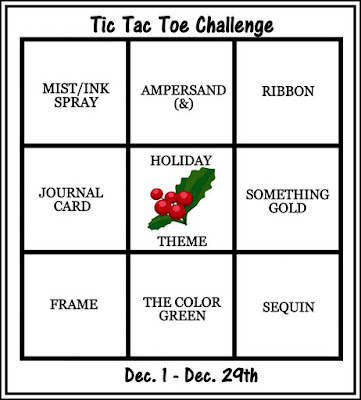 December Tic Tac Toe Stash Challenge