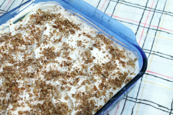 Lemon Pudding Bar Recipe with Pecans