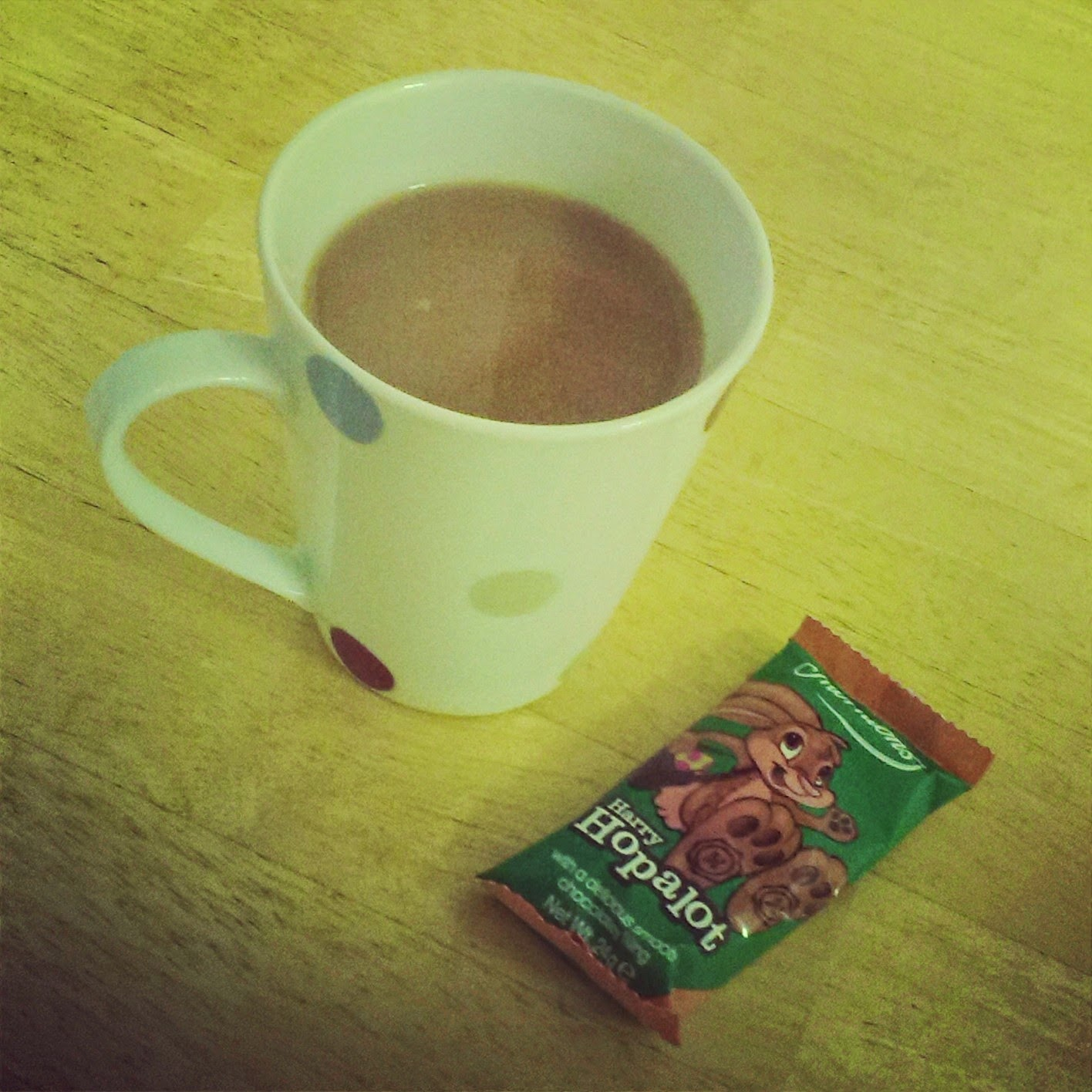 Tea and Harry Hopalot Chocolate