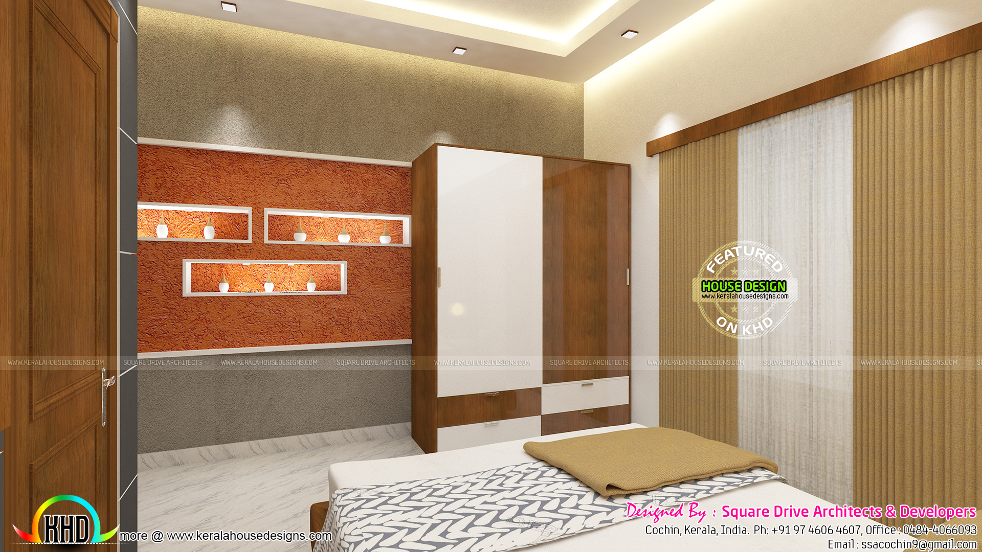 Master And Guest Bedroom Interiors Kerala Home Design