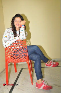Mannara Chopra Pictures in Denim Jeams at Thikka Movie Interview | ~ Bollywood and South Indian Cinema Actress Exclusive Picture Galleries