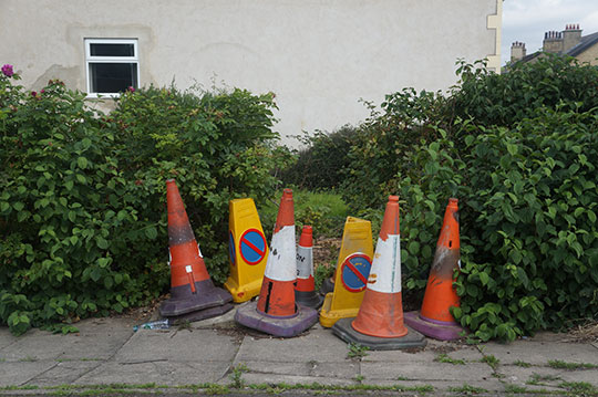 photography, urban photo, street photography, street scene, documentary photography, Sam Freek, collection of cones,