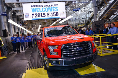 First 2015 Ford F-150 Rolls Off Assembly Line
