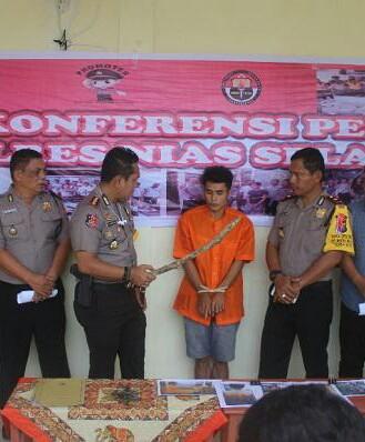Tersangka pelaku penganiayaan di Nias ditangkap polisi.