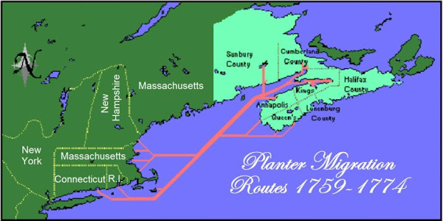 Planter Migration Routes 1759-1774
