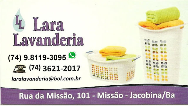f7fb2508c Lara Lavanderia - Jacobina-BA - Bahia News Empresas - O maior cartão ...