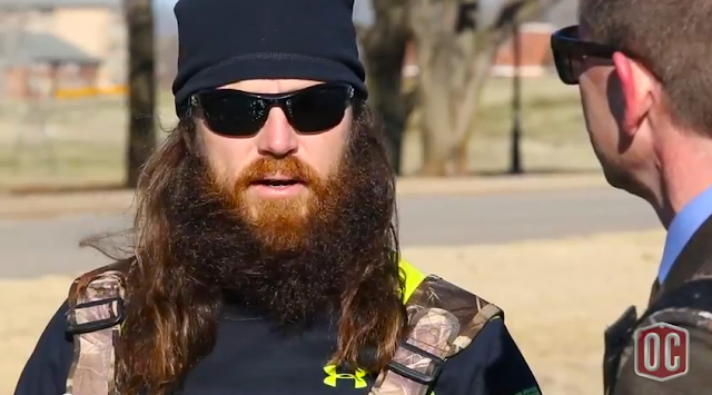 Screen Capture:  Duck Dynasty's Jase Robertson interview on the Oklahoma Christian University Campus
