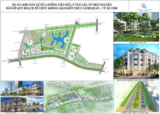 Quy hoạch khu dân cư số 1, đường Việt Bắc, phường Tân Lập, TP. Thái Nguyên