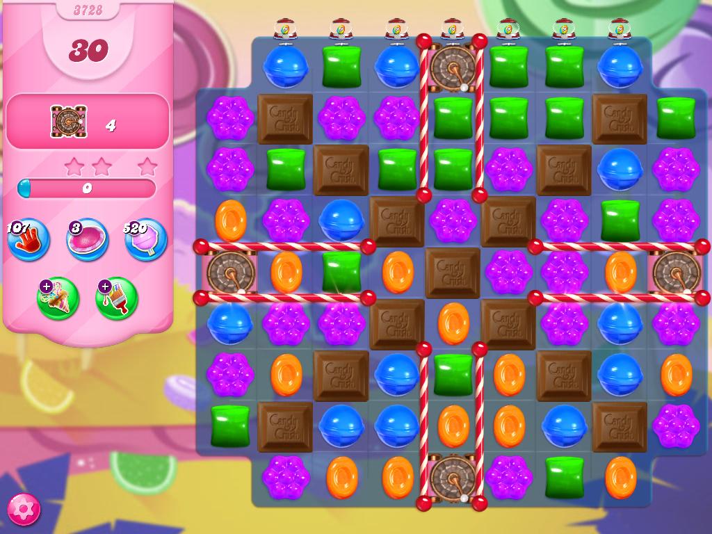 Candy Crush Saga level 3728