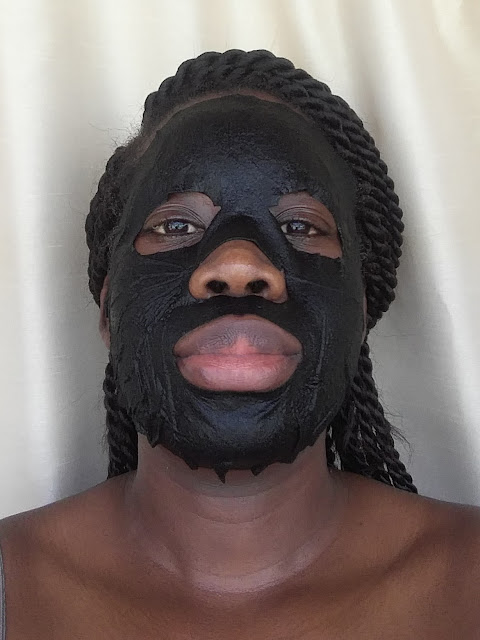 Vitamasques Bamboo Charcoal Mask applied - www.modenmakeup.com