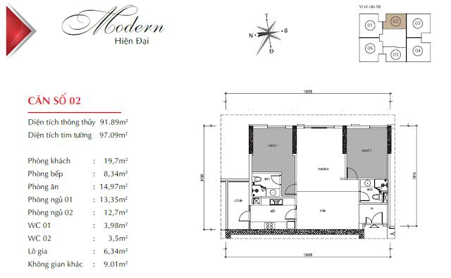 Thiết kế căn 02 Paragon Tower