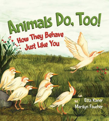 Animals Do, Too! introduces kids to how wild animals and humans are alike. We dance, grow food, play tag, and blow bubbles. And guess what? Animals do too! The picture book also explains how, in the animal world, these activities serve other purposes too like practicing evading predators or creating a nest for their eggs.