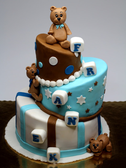 Tiered Cake with Teddy Bears