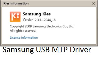 Fix Samsung MTP USB Driver