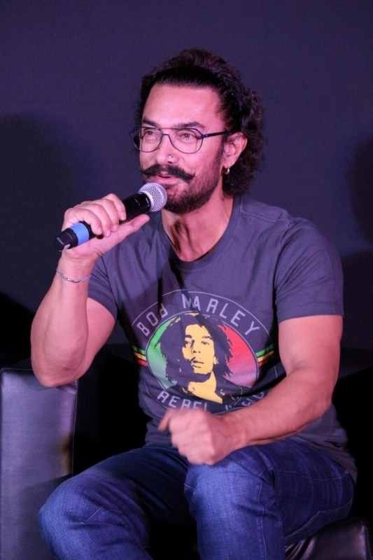 "Aamir Khan During The Song Launch of film ""Secret Superstar"""