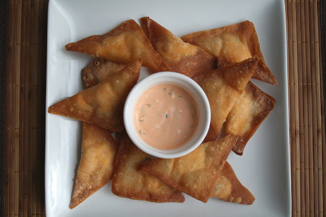 The Nesting Corral Buffalo Chicken Wontons Two Ways