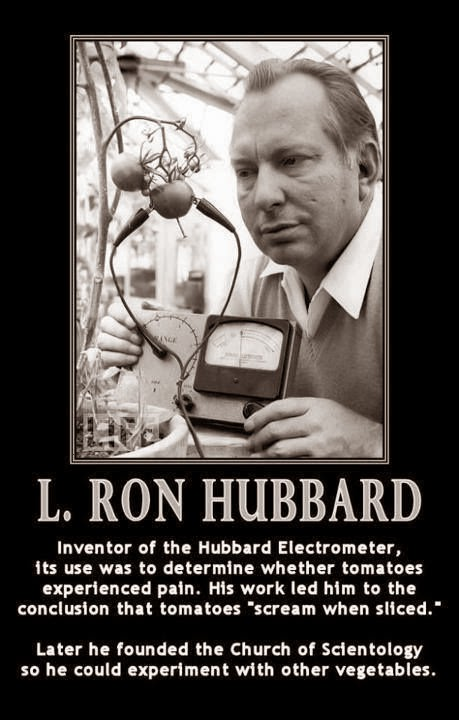 Funny Ron Hubbard Scientology Vegetables - Inventor of the Hubbard Electrometer