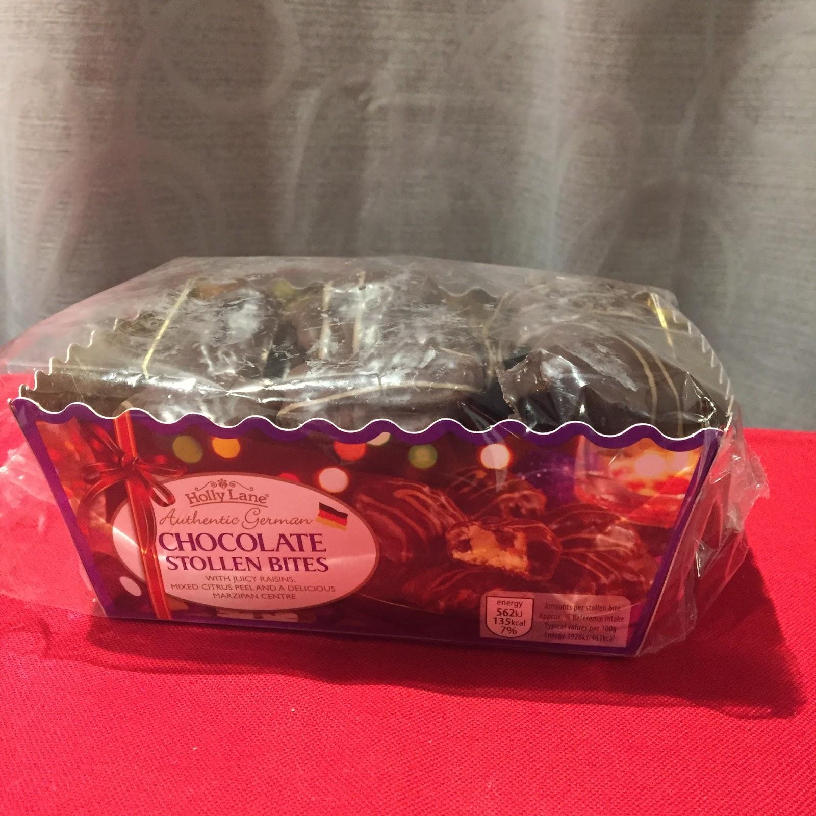 Amy Seeks New Treats: NEW! Holly Lane Chocolate Stollen Bites (ALDI)