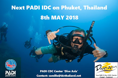Next PADI IDC on Phuket starts 8th May 2018