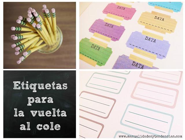 Etiquetas para cuadernos imprimibles gratis