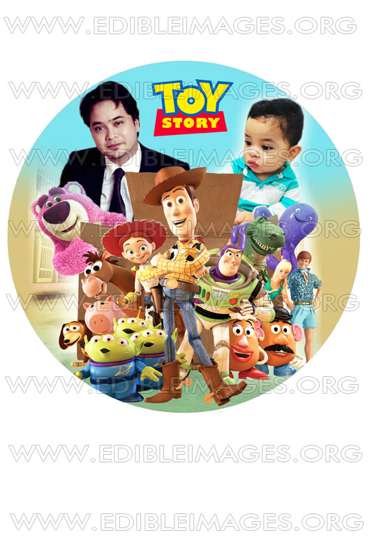 edible image toy story with family cake 7 inch round ...