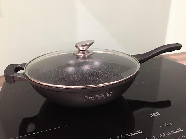 Royalty Line wokpan met marmeren coating 32 cm