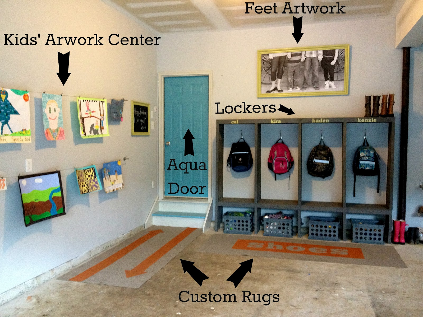 Diy Garage Mudroom Makeover For The Real Family