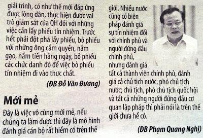 Mới mẻ Phạm Quang Nghị