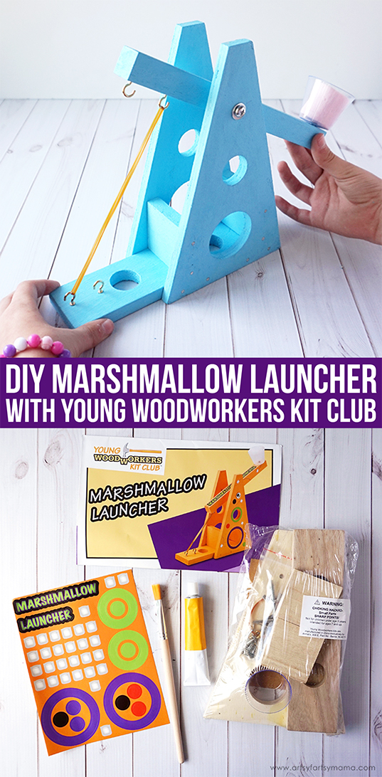 DIY Marshmallow Launcher from Young Woodworkers Kit Club