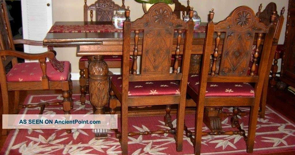 The Amazing and Interesting Antique Oak Dining Room Chairs for ...
