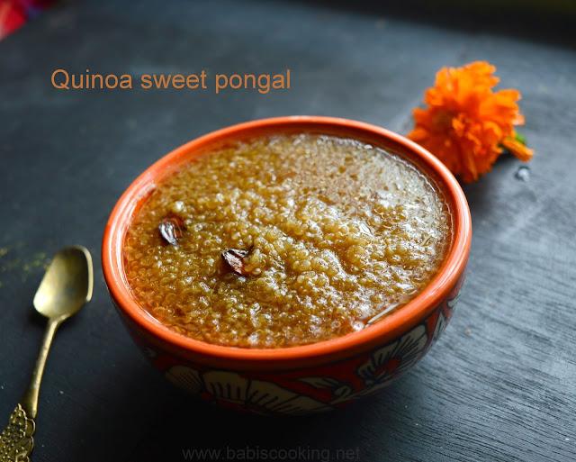 Quinoa Sweet Pongal | Quinoa recipe