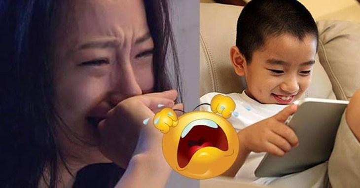 """Anaknya yang Baru 2 Tahun Tanpa Sengaja Merekam """"Hal"""" yang Bikin ibunya Malu Dan Langsung Bunuh Diri!!"""